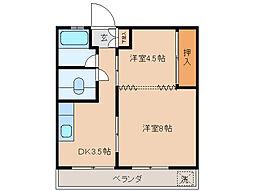 ホビキ苑[2階]の間取り