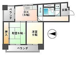 福信ビル[4階]の間取り
