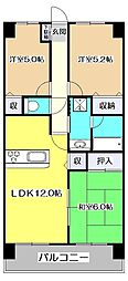 東京都東村山市本町1丁目の賃貸マンションの間取り