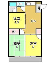 カーサアライ[2階]の間取り