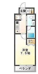 Groove Mukogawa 4階1Kの間取り