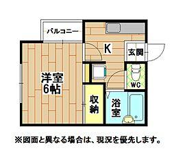 福岡県北九州市八幡東区大蔵2丁目の賃貸アパートの間取り