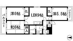 アヤハマンション[3階]の間取り