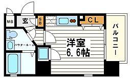 大阪府大阪市中央区十二軒町の賃貸マンションの間取り