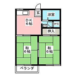 フォーブル神池[2階]の間取り