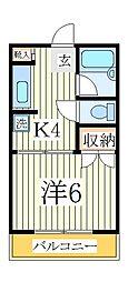 ボナールK[2階]の間取り
