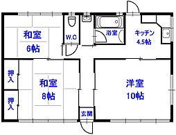 [一戸建] 埼玉県熊谷市拾六間 の賃貸【/】の間取り