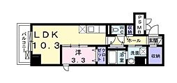 Osaka Metro谷町線 天神橋筋六丁目駅 徒歩7分の賃貸マンション 6階1LDKの間取り