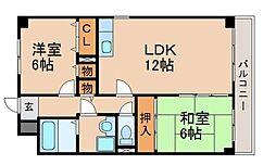 グリーン茨木[6階]の間取り