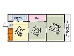 大阪府堺市西区堀上緑町2丁の賃貸マンションの間取り