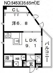 メゾンキコー田辺[303号室号室]の間取り