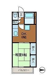 鈴木ハイツ2[2階]の間取り