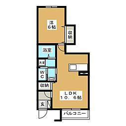 静岡県富士宮市小泉の賃貸アパートの間取り