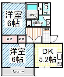 ガーデンタウン北長野 A[1階]の間取り