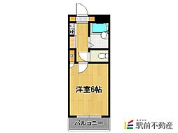 G-ONE西新2[4階]の間取り