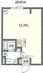 JR京浜東北・根岸線 鶯谷駅 徒歩6分の賃貸マンション 1階ワンルームの間取り