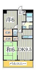 ピュアグリーン四季B[2階]の間取り