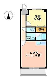 リトルアイランド細米[1階]の間取り