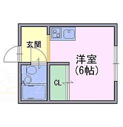 アネシス田村[3階]の間取り