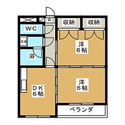 CITY連坊V[4階]の間取り