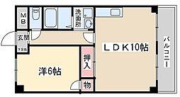 メゾン天神橋[203号室]の間取り