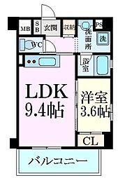 阪神本線 芦屋駅 5階建 新築 2階1LDKの間取り