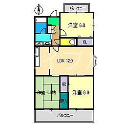 ロッジメントヨシムラ[3階]の間取り