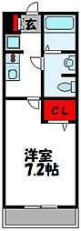 福岡県古賀市日吉3丁目の賃貸アパートの間取り