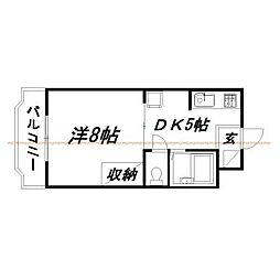 静岡県浜松市中区細島町の賃貸マンションの間取り