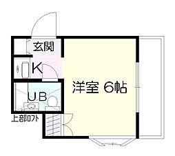 ユースランドB棟[1階]の間取り
