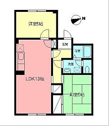 牧野マンション[2階]の間取り