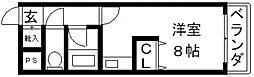 布施オーク5[406号室号室]の間取り