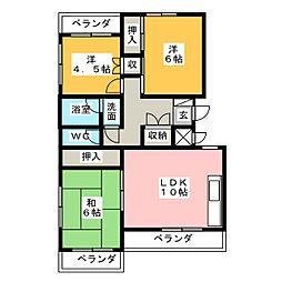 ビブレ高崎[3階]の間取り