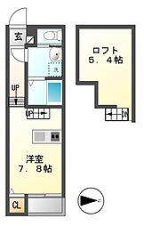 フィールグッド新栄[2階]の間取り