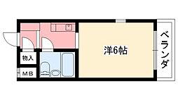 兵庫県西宮市北昭和町の賃貸マンションの間取り