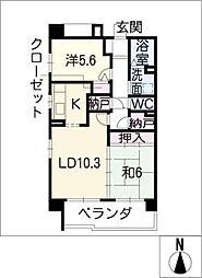 サンコート桃花台 C棟[2階]の間取り