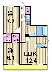 RSAIII[3階]の間取り