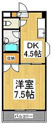 小川橋ハイツ[3階]の間取り