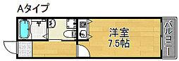 AVANZAR遠里小野[4階]の間取り