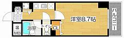 M&Mウメダイースト[4階]の間取り