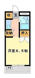 メゾン・ド・武蔵野 学生専用[5階]の間取り