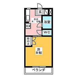 アビタシオン篠ヶ瀬[1階]の間取り