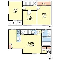 新潟県新潟市中央区近江2丁目の賃貸アパートの間取り