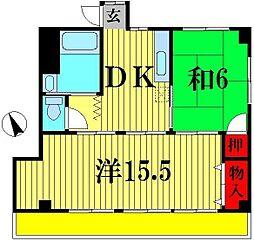 千葉県松戸市岩瀬の賃貸マンションの間取り