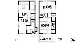 [一戸建] 兵庫県川西市小戸3丁目 の賃貸【/】の間取り