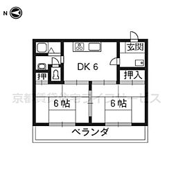 サンライブマンションI[3-F号室]の間取り