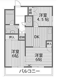 アリエス町田[2階]の間取り