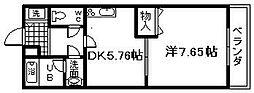 フジパレス貝塚半田2[1階]の間取り