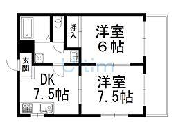 ハイメゾン伊藤[1階]の間取り