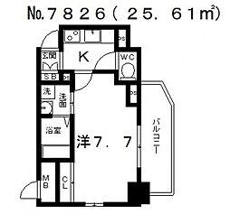 エスプレイス大阪城SOUTH(サウス)[1106号室号室]の間取り